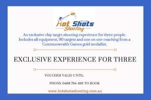 Clay target shooting experience for three people